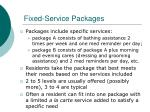 fixed service packages