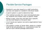 flexible service packages