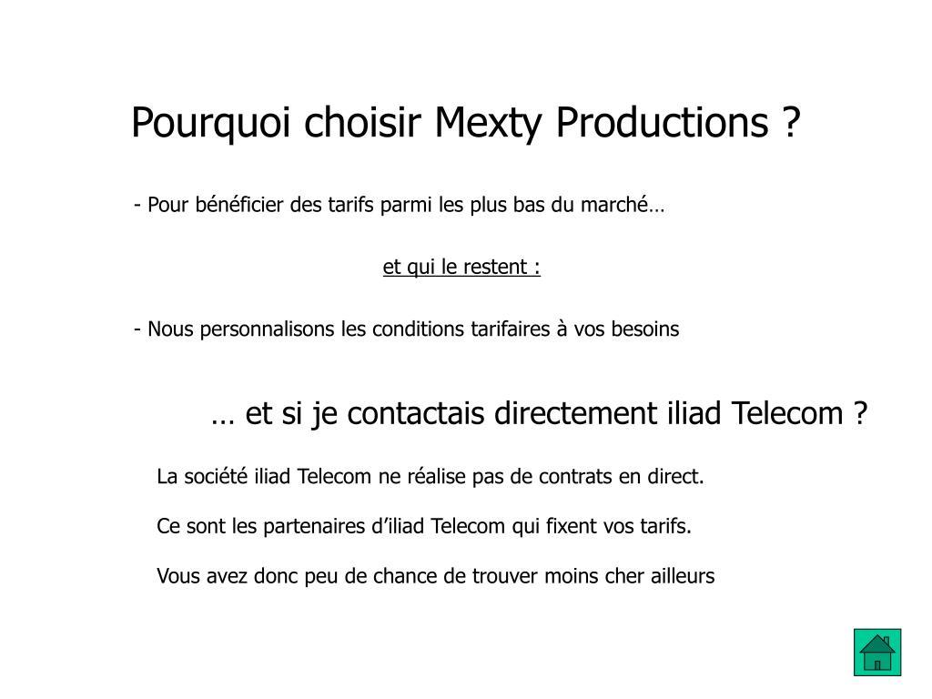 Pourquoi choisir Mexty Productions ?