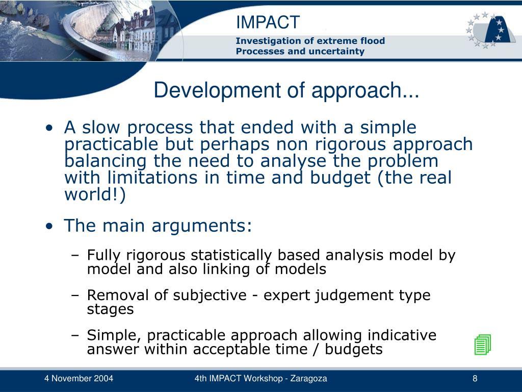 Development of approach...