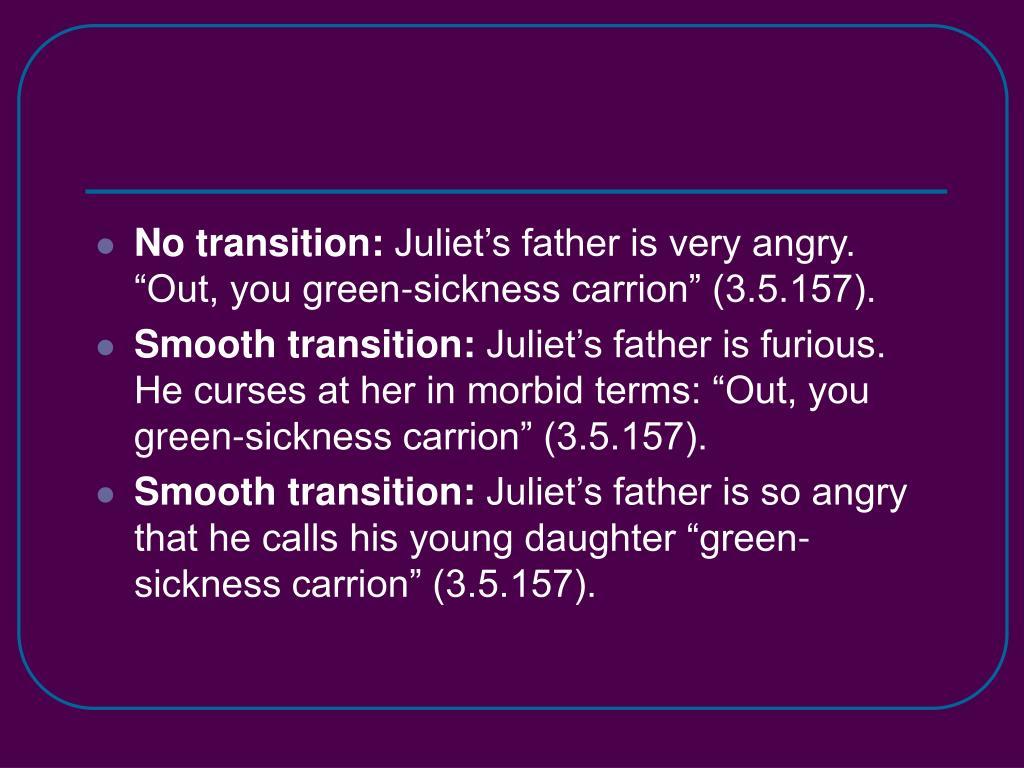 No transition: