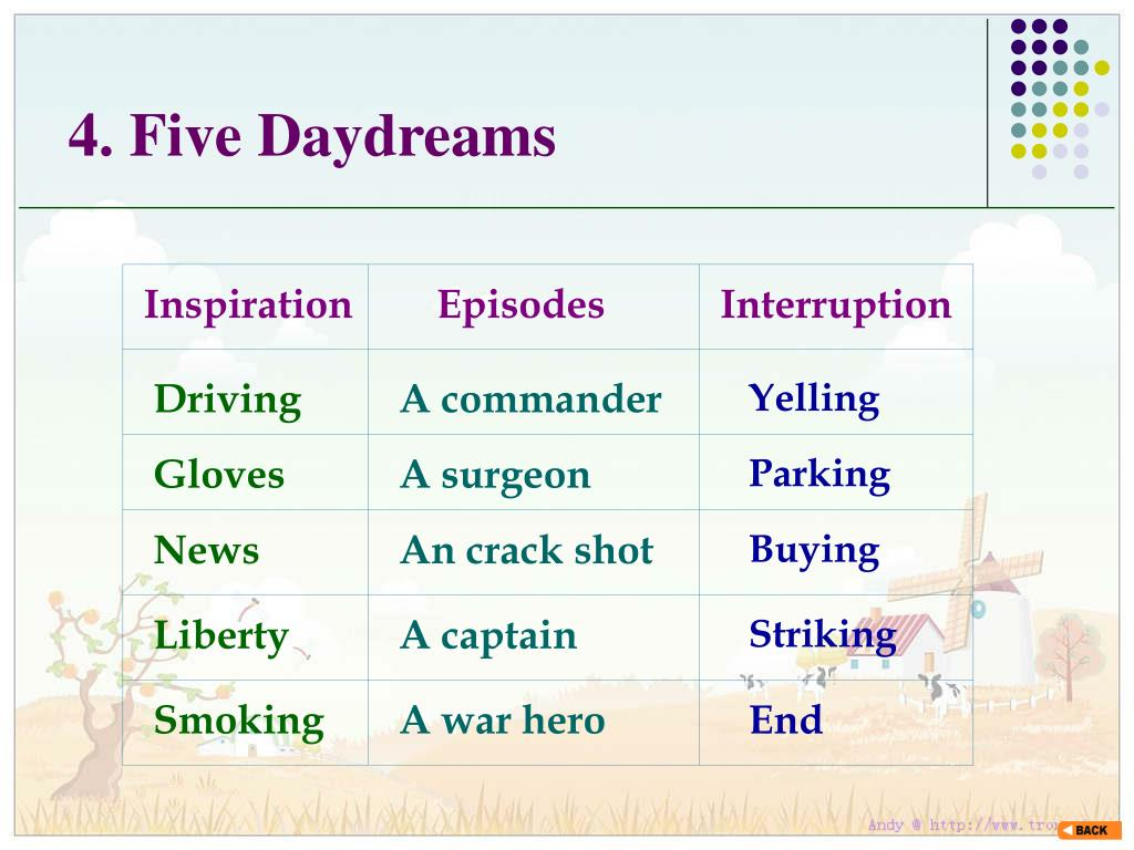 4. Five Daydreams