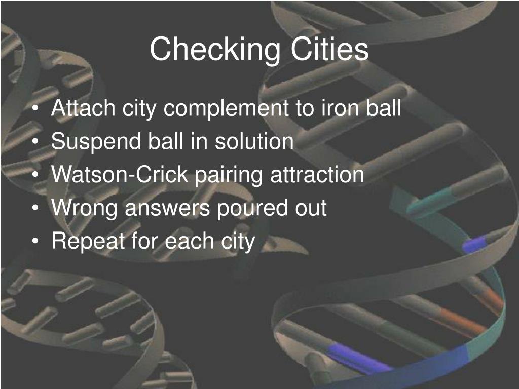Checking Cities
