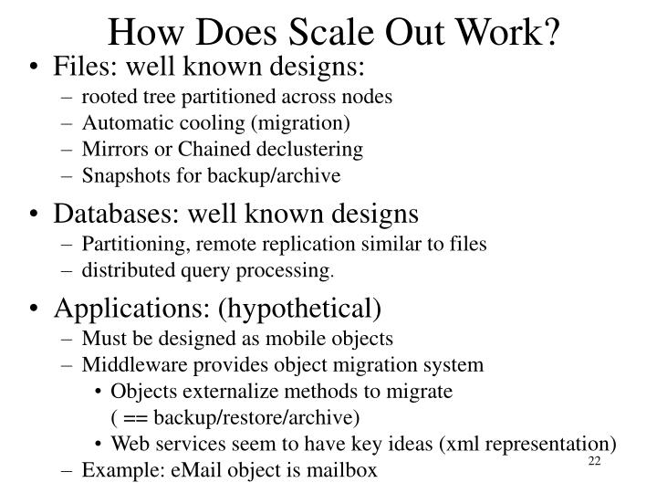 How Does Scale Out Work?