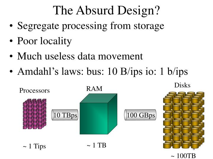 Segregate processing from storage