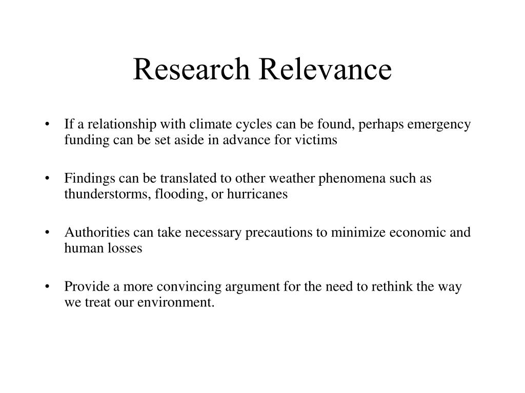 Research Relevance