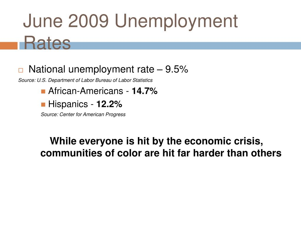 June 2009 Unemployment Rates