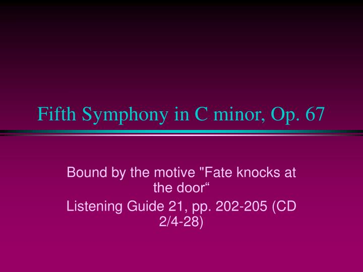 Fifth Symphony in C minor, Op. 67
