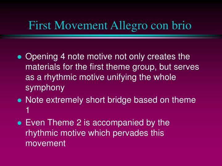 First Movement Allegro con brio