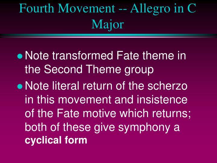 Fourth Movement -- Allegro in C Major