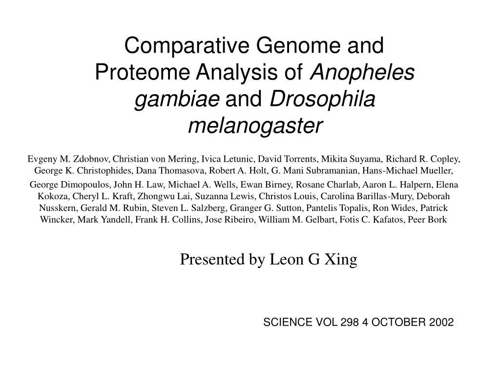 Comparative Genome and