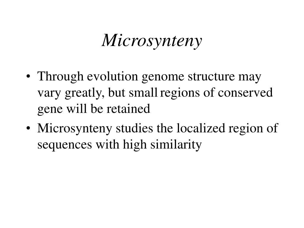 Microsynteny