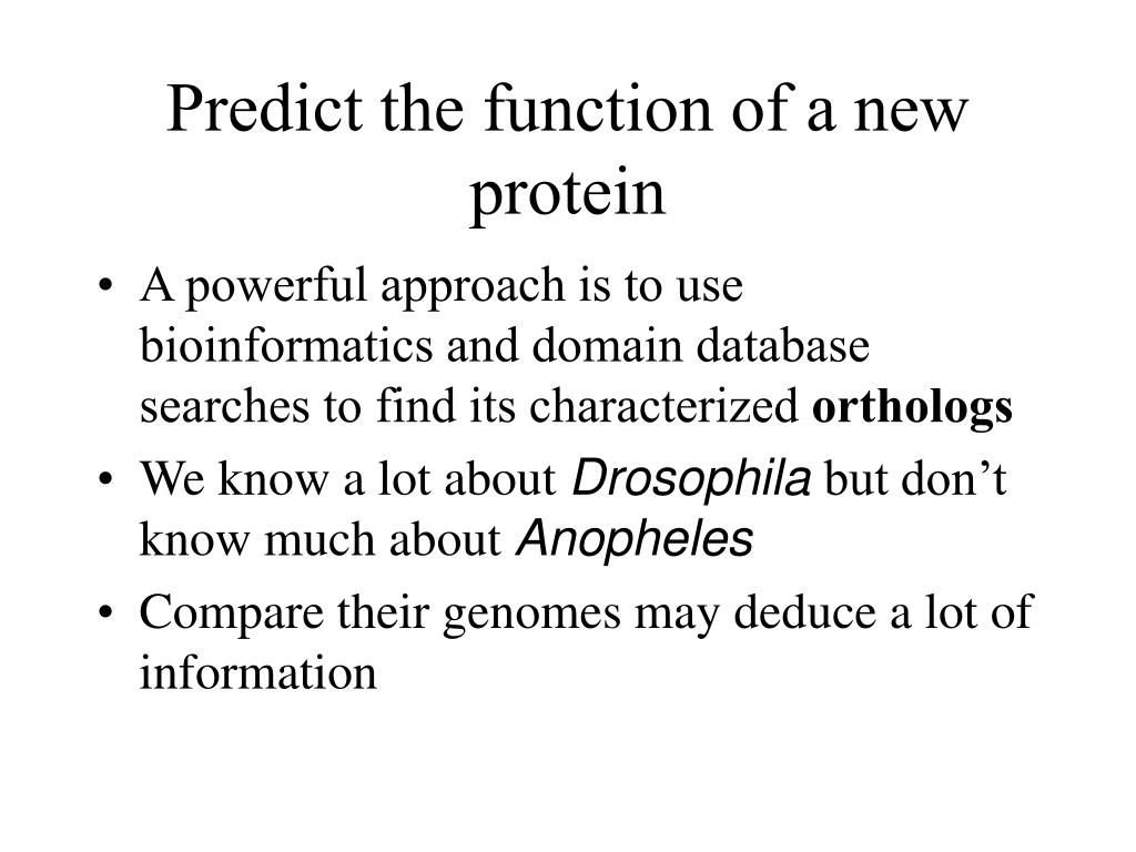 Predict the function of a new protein