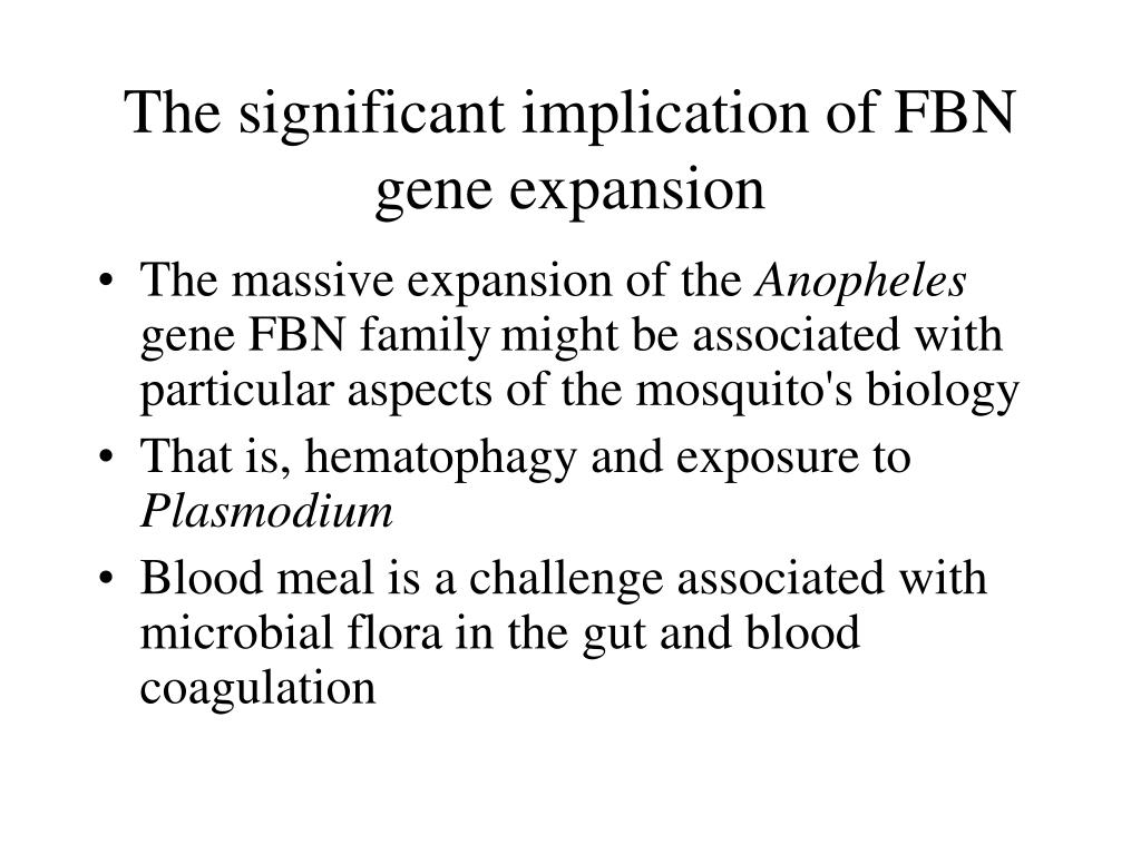 The significant implication of FBN gene expansion