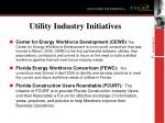 utility industry initiatives