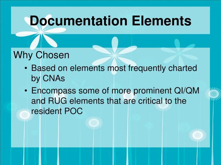 Documentation Elements