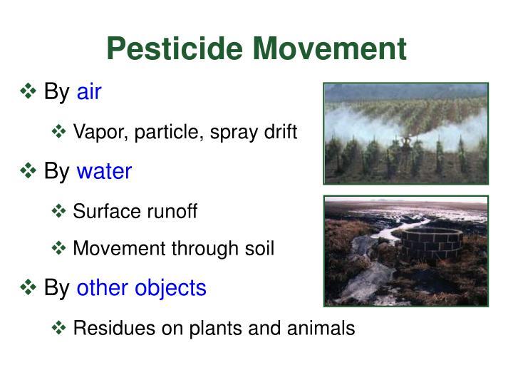 Pesticide Movement