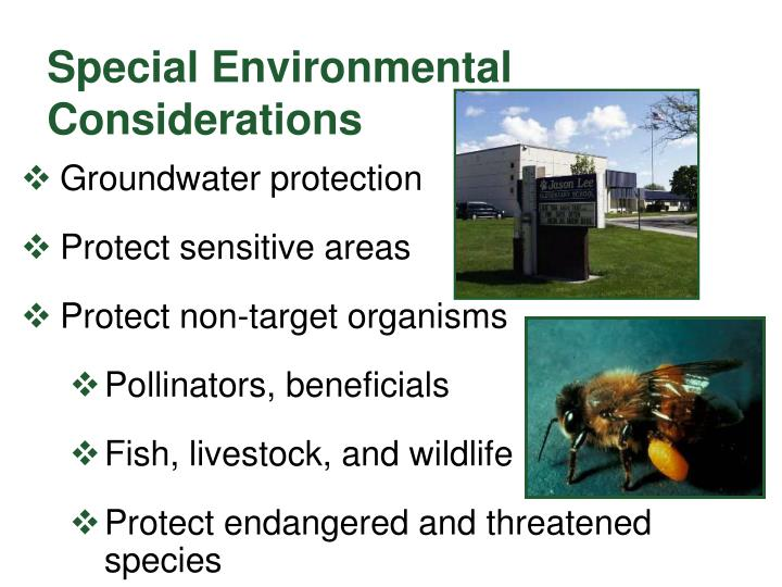 Special Environmental Considerations