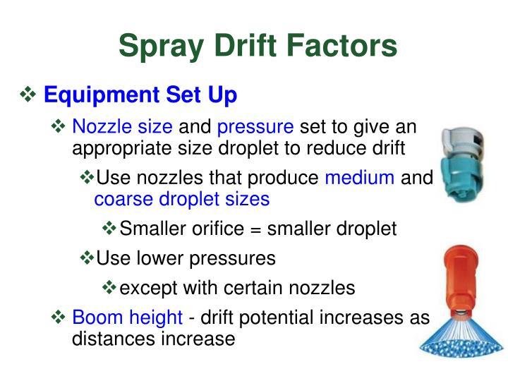 Spray Drift Factors