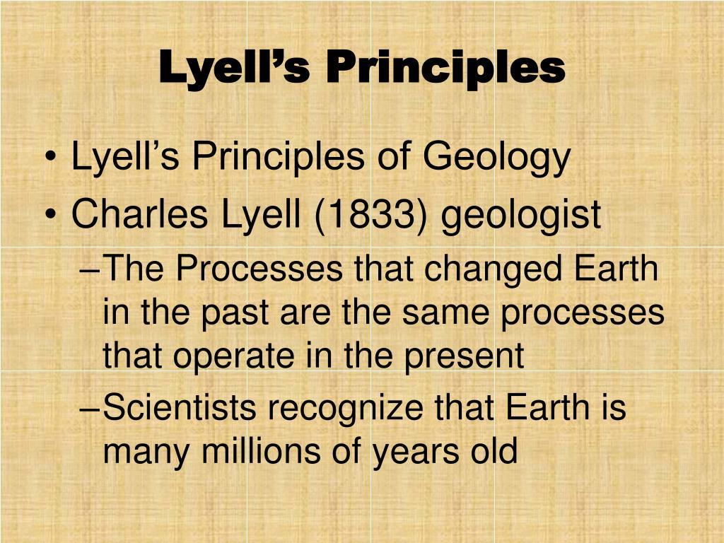 Lyell's Principles