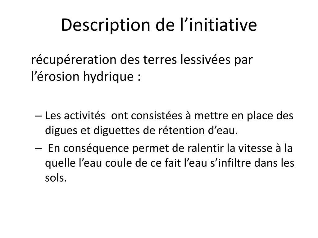 Description de l'initiative