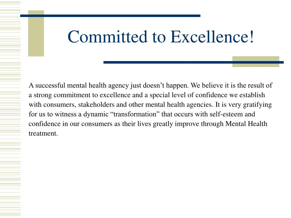 Committed to Excellence!