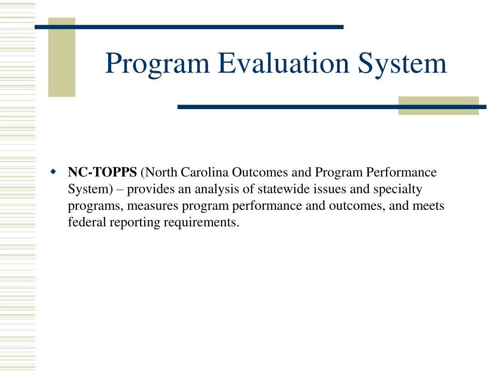 Program Evaluation System