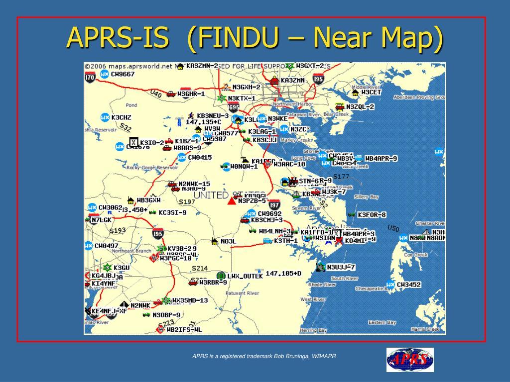 APRS-IS  (FINDU – Near Map)