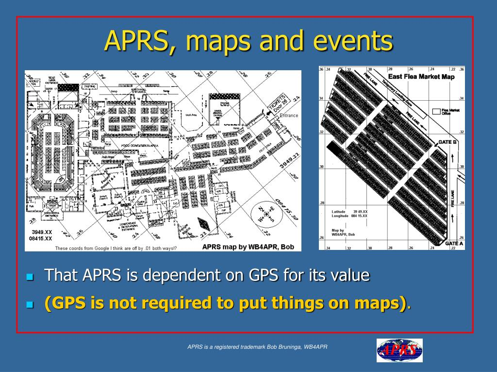 APRS, maps and events