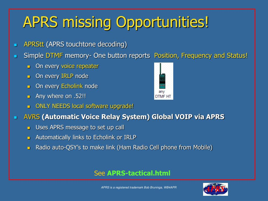 APRS missing Opportunities!