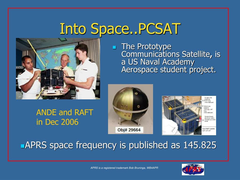 Into Space..PCSAT