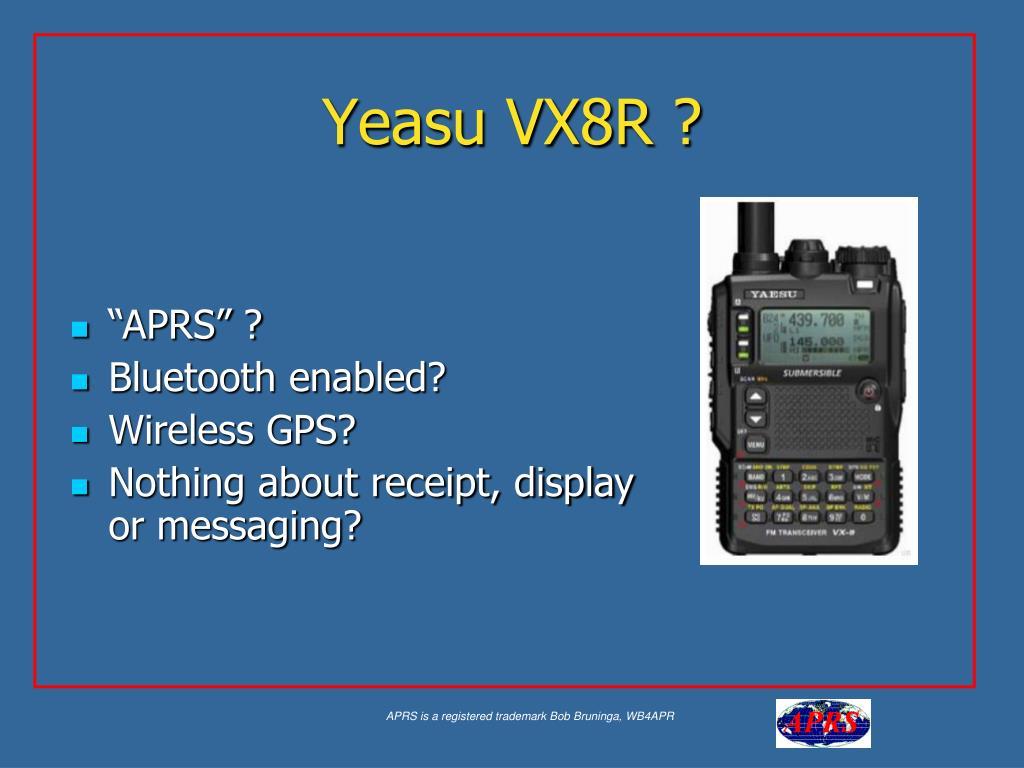 Yeasu VX8R ?