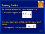 turning radius