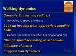 walking dynamics