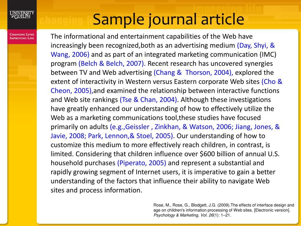 Sample journal article