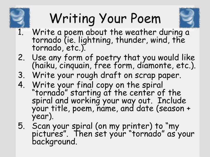 Writing your poem