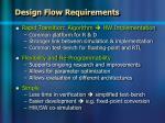 design flow requirements