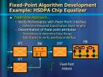 fixed point algorithm development example hsdpa chip equalizer14