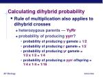 calculating dihybrid probability