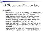 vii threats and opportunities