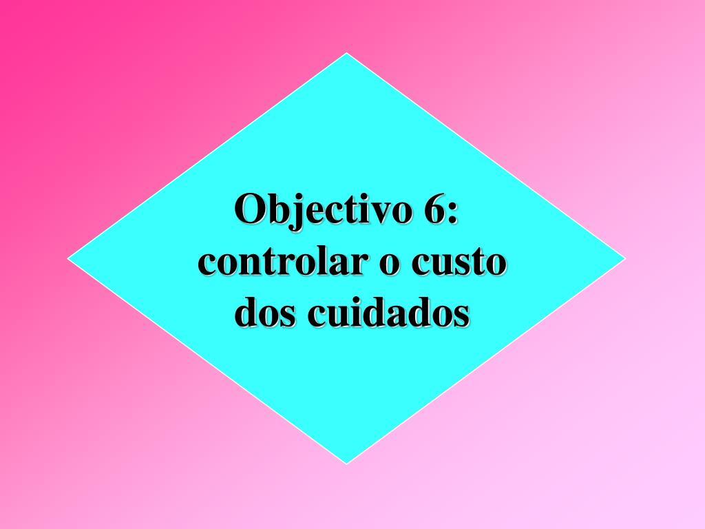 Objectivo 6: