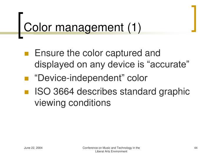 Color management (1)