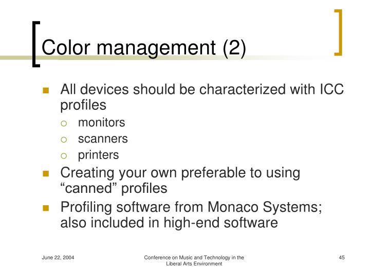 Color management (2)