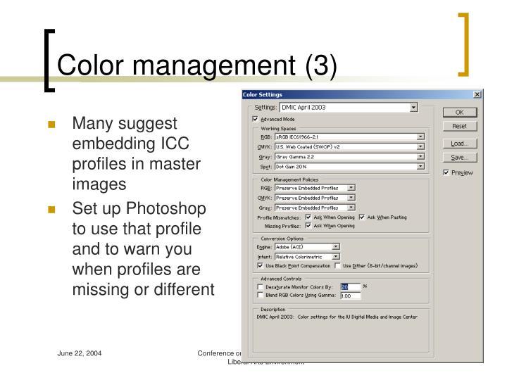 Color management (3)