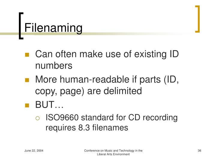 Filenaming