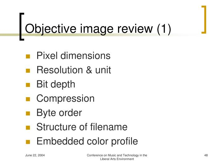 Objective image review (1)