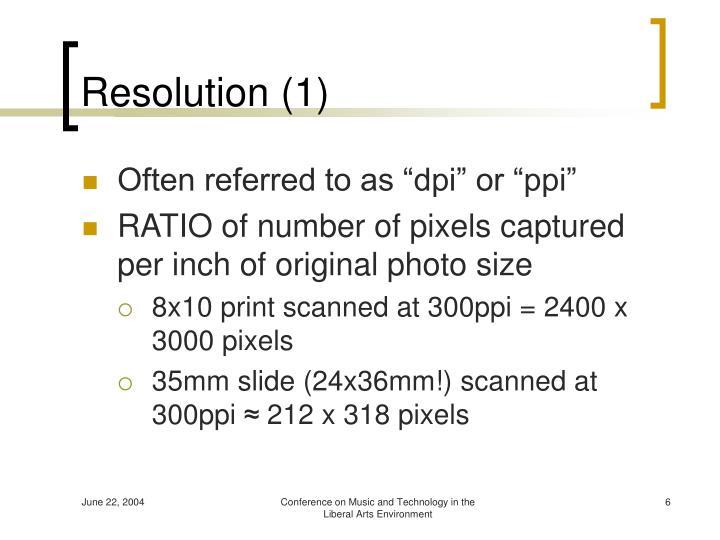 Resolution (1)