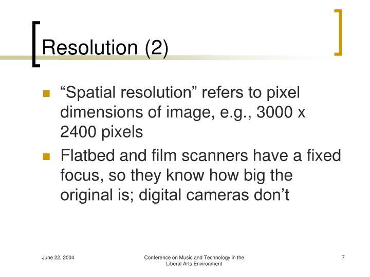 Resolution (2)
