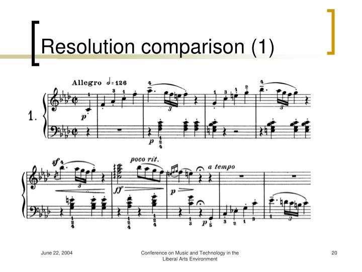 Resolution comparison (1)