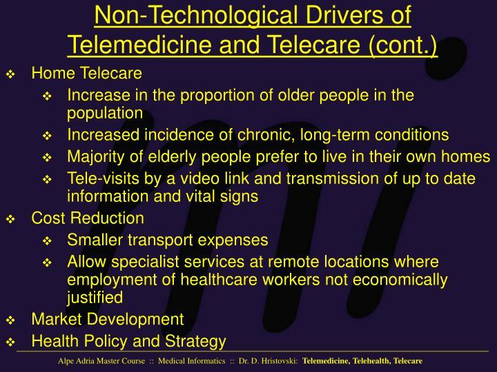 Non-Technological Drivers of Telemedicine and Telecare